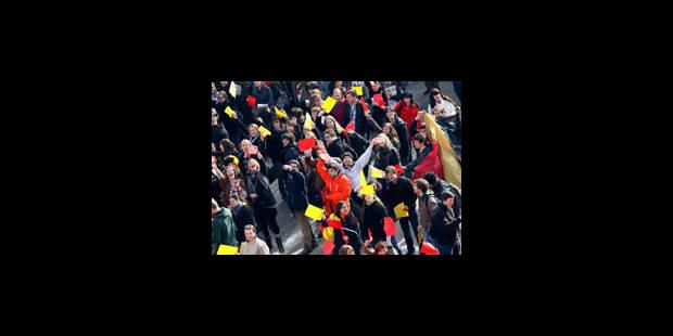 """1.100 étudiants font la """"révolution des frites"""" à Bruxelles - La Libre"""