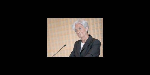 """Affaire Tapie : Christine Lagarde dénonce une """"manoeuvre politique"""" - La Libre"""