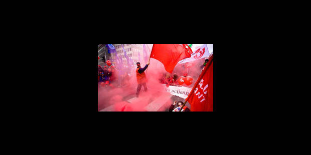 """""""Jeudi rouge"""" le 21/02: Manifestation en front commun - La Libre"""