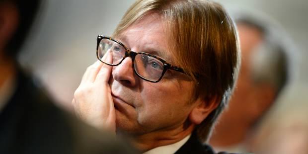 Guy Verhofstadt (re)frappe à la porte du Berlaymont - La Libre