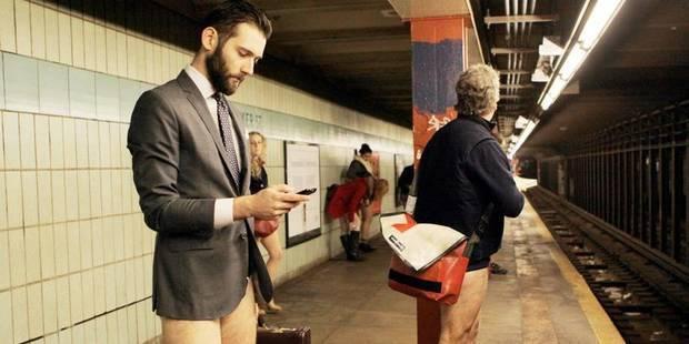 Sans pantalon dans le métro bruxellois - La Libre