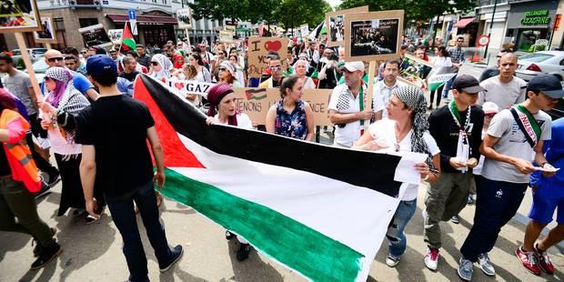 Gaza: plus de 5000 personnes ont manifesté à Bruxelles, quelques dérapages - La Libre