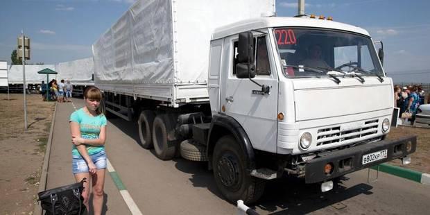 """Ukraine: l'UE """"déplore"""" l'entrée du convoi russe - La Libre"""