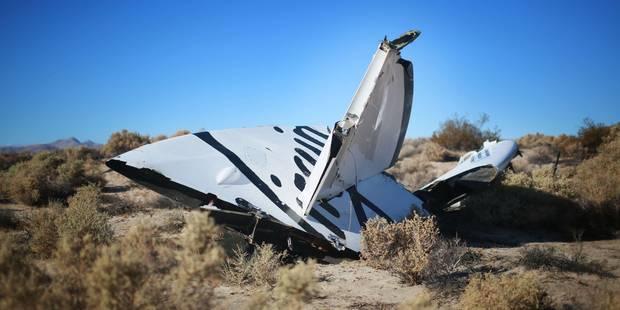 """SpaceShipTwo ne s'est pas écrasé à cause d'une """"explosion"""", selon Branson - La Libre"""