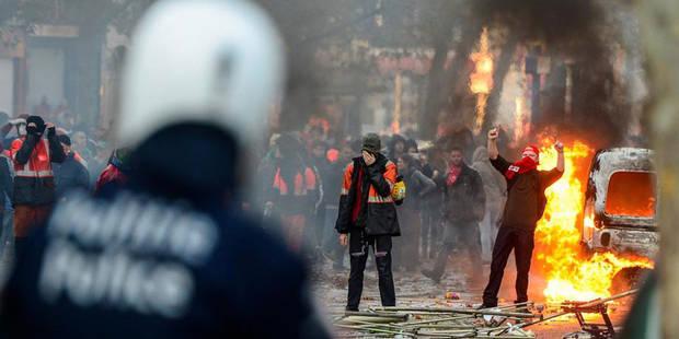 43 arrestations lors de la Manifestation nationale - La Libre