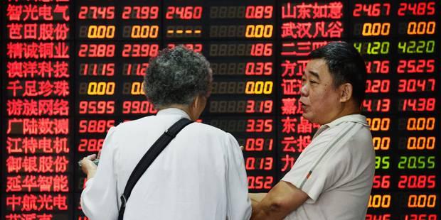 Les bourses chinoises poursuivent leur dégringolade, -20% en 10 jours - La Libre
