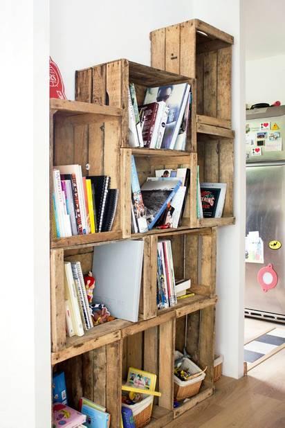 10 id es d co avec des caisses en bois la libre. Black Bedroom Furniture Sets. Home Design Ideas