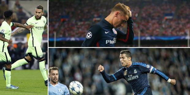 C1: le PSG, le Real et la Juve assurent, City et United sauvent l'honneur anglais, l'Atlético surpris par Benfica - La L...