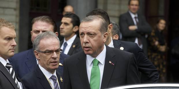 Visite d'Erdogan à Bruxelles : coups entre services d'ordre turcs et belges - La Libre