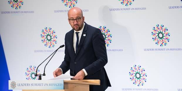 Charles Michel met en avant les efforts fournis par la Belgique au sommet pour les réfugiés - La Libre