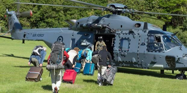 Séisme en Nouvelle-Zélande: les hélicoptères commencent à évacuer les touristes - La Libre