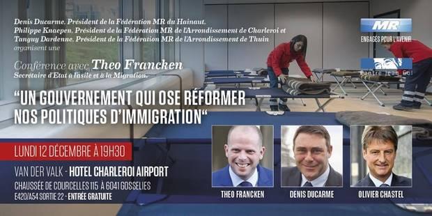 Le MR déroule le tapis bleu pour Francken - La Libre