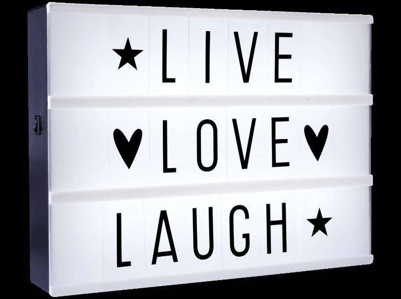 Les boîtes lumineuses sont des accessoires de déco mais aussi d'amusement. Chaque invité pourra y afficher au cours de la soirée ses bonnes résolutions et ses plus grands souhaits pour l'année nouvelle…  39 € – www.alittlelovelycompany.nl