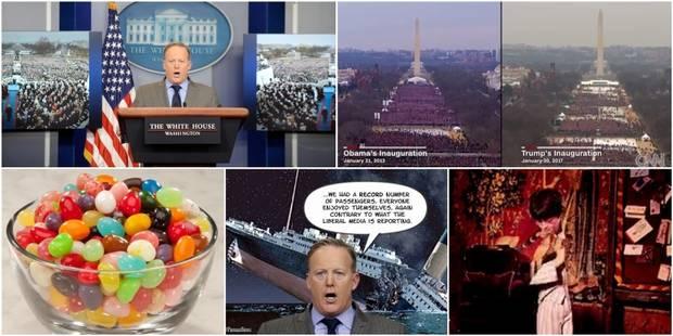 """""""C'était la plus grande foule jamais vue"""": Quand le web se moque des mensonges du porte-parole de Trump après l'investit..."""