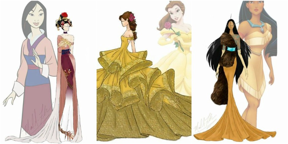 Voici la version haute couture des robes de princesse - Dessin de robe de princesse ...