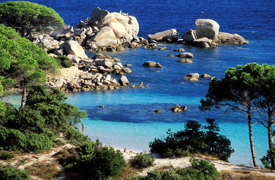 La plage de Palombaggia, près de Porto-Vecchio