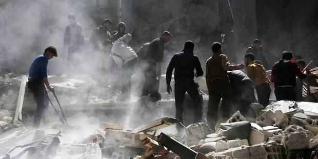 """Syrie: Erdogan impute l'attaque """"chimique"""" à l'""""assassin Assad"""" (PHOTOS+VIDEO) - La Libre"""