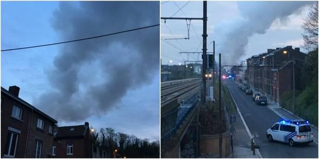 Violent incendie à Liège : une fillette légèrement blessée - La Libre