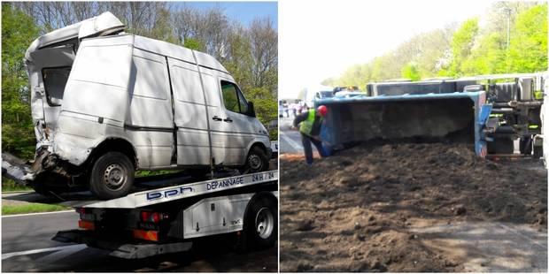 Gros embarras de circulation sur le ring de Bruxelles : Un camion sur le flanc à Braine-l'Alleud (PHOTOS et VIDEOS) - La...