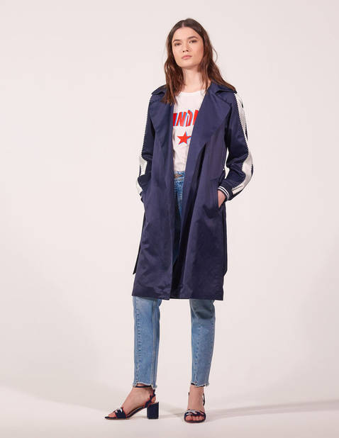 Sportswear. Trench-coat fluide  Sandro, 395€