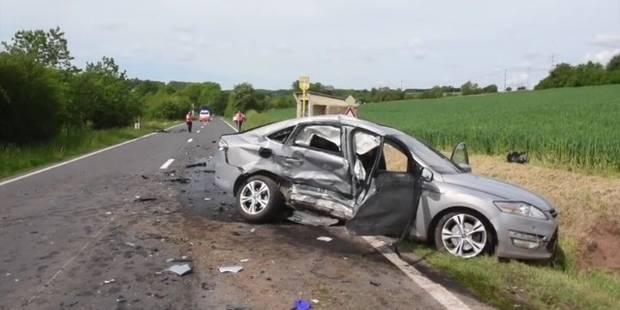 Une collision entre deux voitures fait un mort et deux blessés graves à Lesve - La Libre
