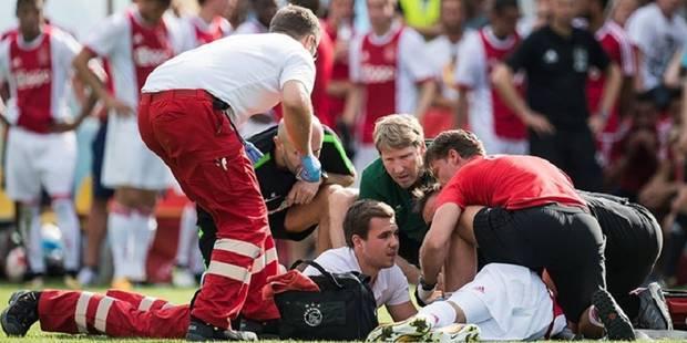 """Victime d'un arrêt cardiaque en plein match, le joueur de l'Ajax Nouri présente des lésions cérébrales """"graves et perman..."""
