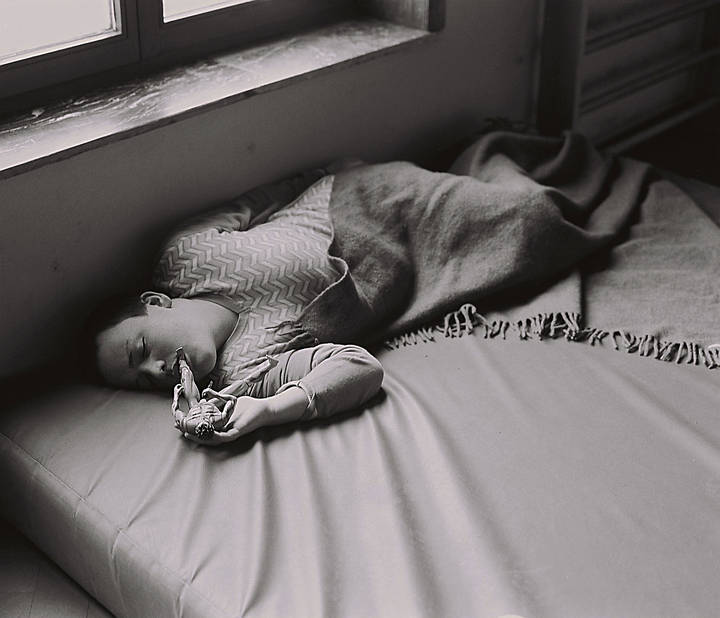 Une sieste avec GI Joe.