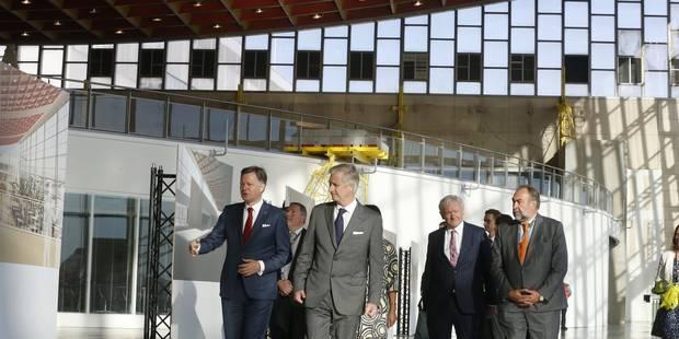 Le roi Philippe en visite à Brussels Airport (PHOTOS)