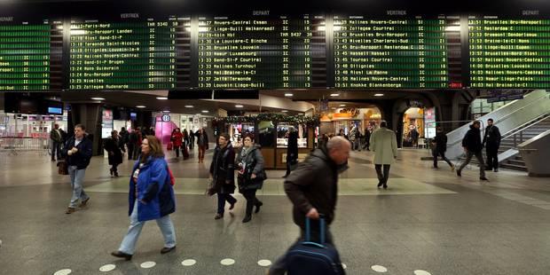 Tout le trafic ferroviaire perturbé par deux incidents sur la jonction Nord-Midi - La Libre