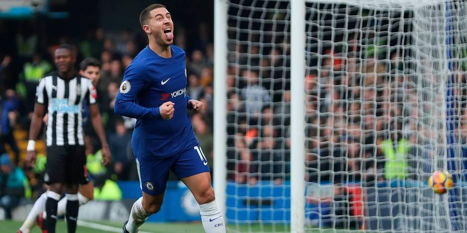Les Belges à l'étranger: Hazard, double buteur, s'offre une panenka contre Newcastle