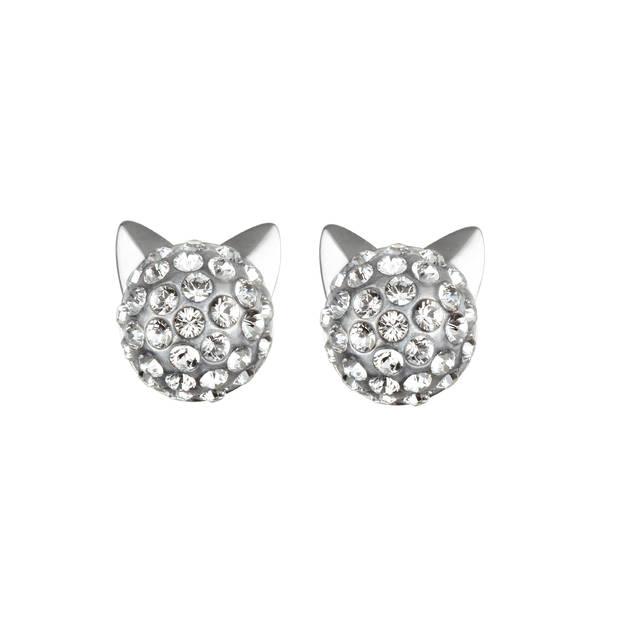 Karl Lagerfeld adore ses petites collections abordables qu'il signe de son nom et de son célèbre profil. Ensemble boucles d'oreilles chat, 60€