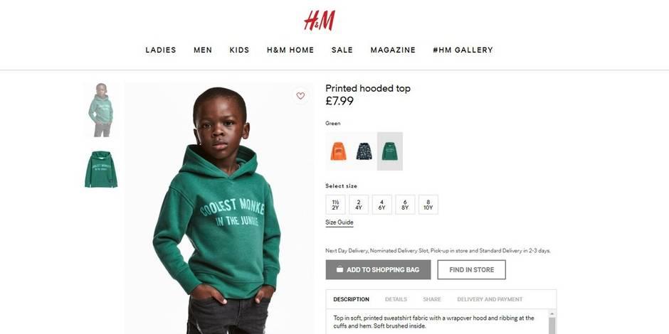 Une manifestation contre H&M en Afrique du Sud — Pub