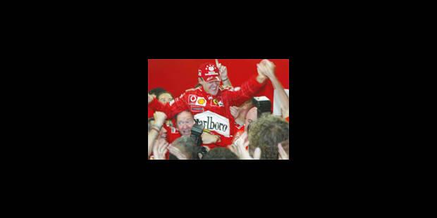 Schumacher décroche un sixième titre mondial - La Libre