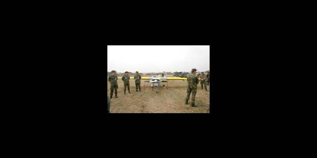 Drones belges, l'oeil de l'Eufor