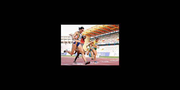 Kim Gevaert gagne le 100m