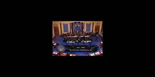 Le Sénat américain vote le plan de sauvetage - La Libre