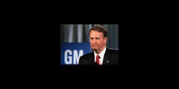 Démission du PDG de General Motors