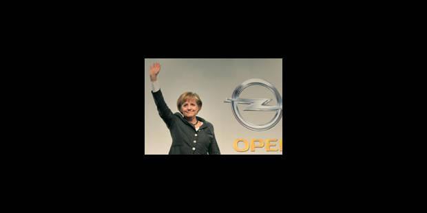 Opel : Merkel calme le jeu