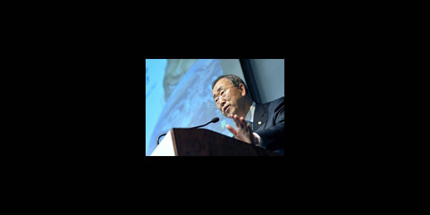 """Ban Ki-moon: """"le monde fonce vers l'abîme"""""""