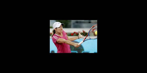 Dur retour sur terre pour Justine Henin - La Libre