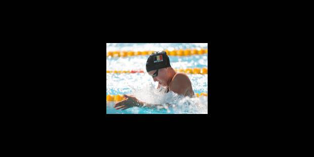 Le relais du 4 x 100 m quatre nages dames en finale - La Libre