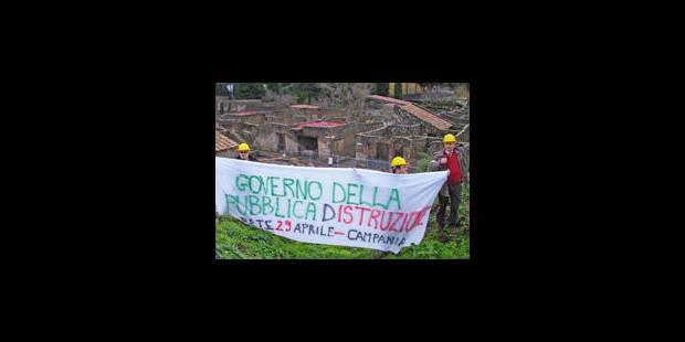 Coupes dans le budget de la Culture: Pompéi s'écroule, le Colisée s'effrite - La Libre