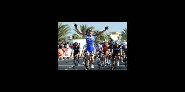 Tom Boonen vainqueur de la 1e étape et nouveau leader du Tour du Qatar - La Libre
