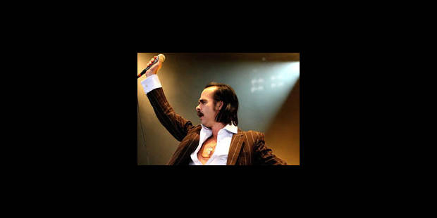 Nick Cave et son groupe Grinderman à Rock Werchter - La Libre
