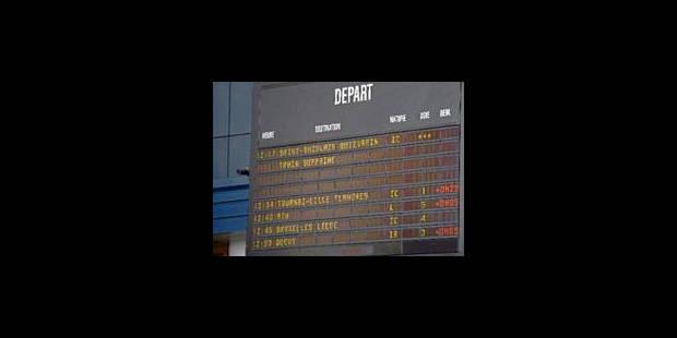 Le trafic ferroviaire a repris à Charleroi et Mons - La Libre