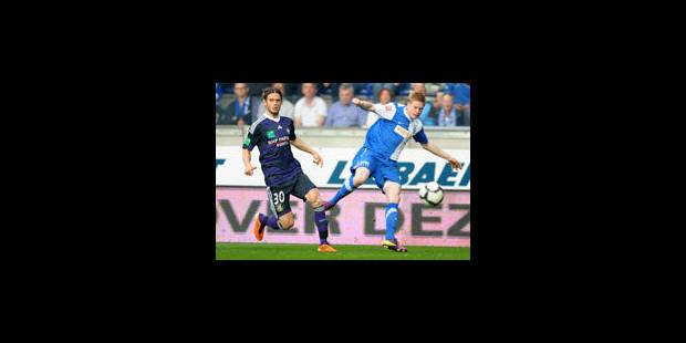 Genk élimine Anderlecht de la course au titre - La Libre