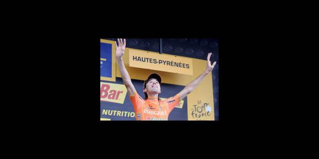 Samuel Sanchez s'impose devant Vanendert, Contador à la peine - La Libre