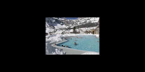 Dans l'eau thermale des Alpes valaisannes