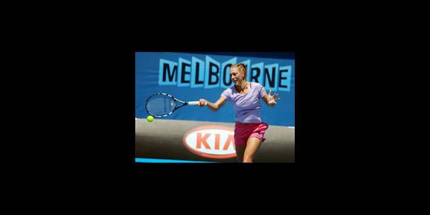 Yanina Wickmayer éliminée d'entrée à Melbourne - La Libre