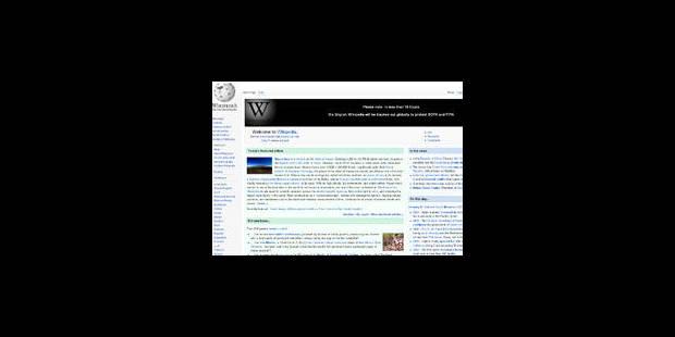 Projet de loi antipiratage: Wikipédia anglais fermé mercredi - La Libre